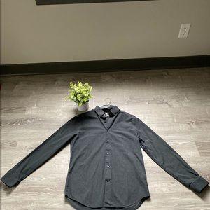 Express Men's Dk Gray Casual Button-Down Shirt